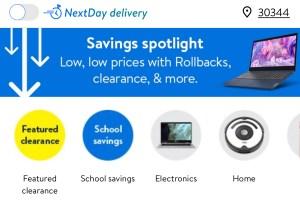 Walmart app's Savings Spotlight