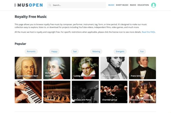 Musopen free music downloads