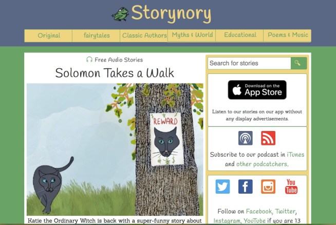 Storynory free audiobooks for kids