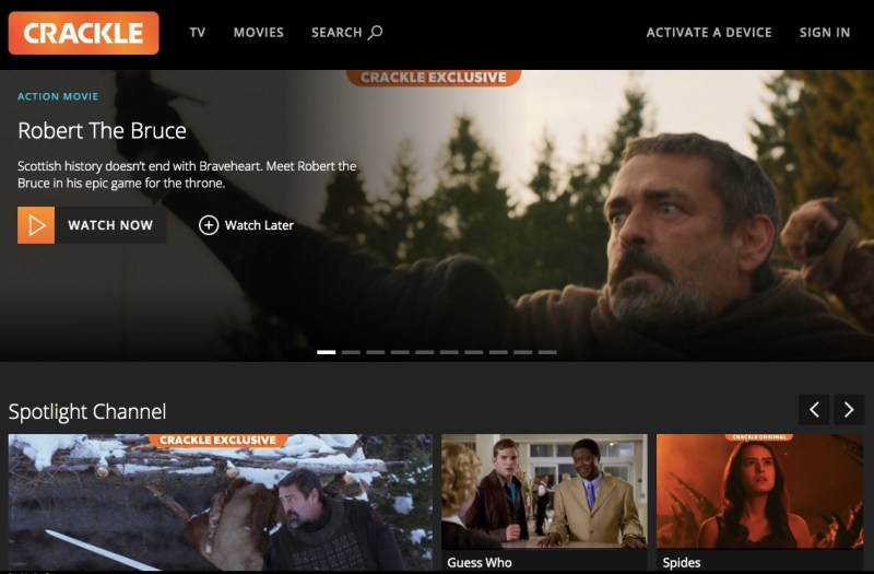 Crackle homepage - watch free TV Shows and movies online