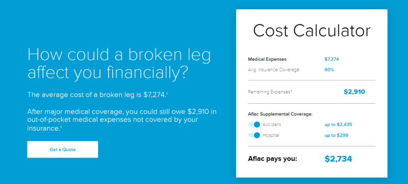 Aflac insurance offers payouts if you suffer an injury or illness.