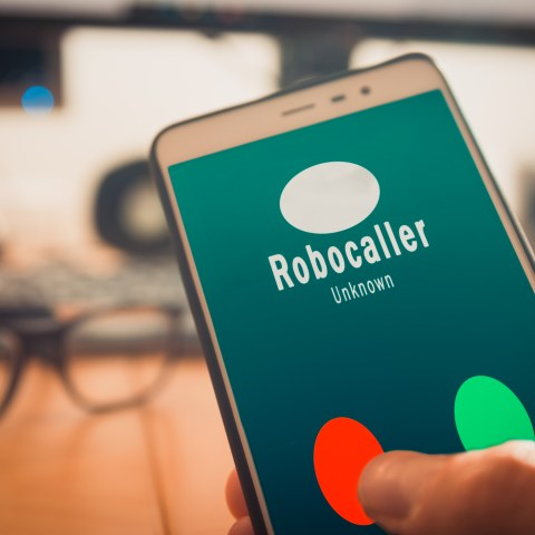 Robocalls on a cell phone