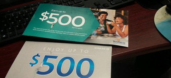 Chase $500 bank sign-up bonus