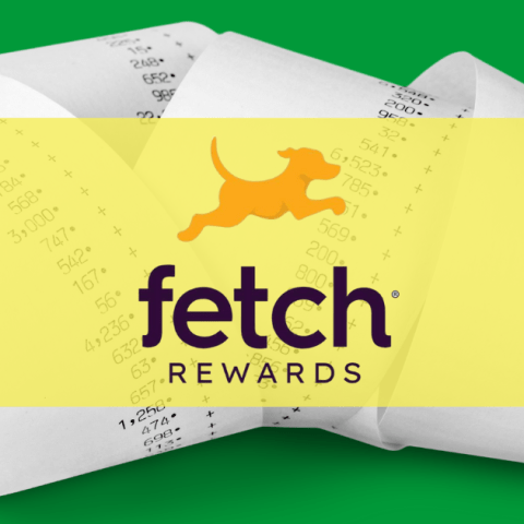Scan receipts to earn points in the Fetch Rewards app.