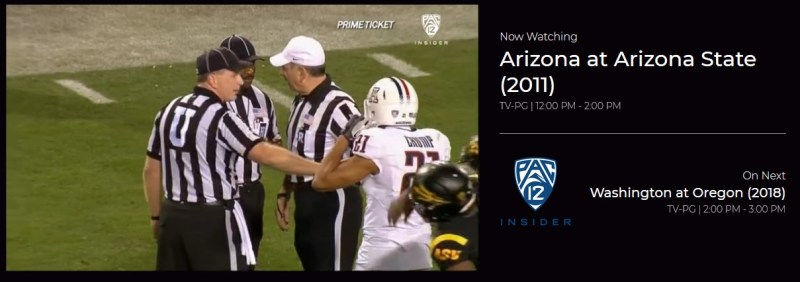 Pac-12 Insider is a sports channel on Redbox.
