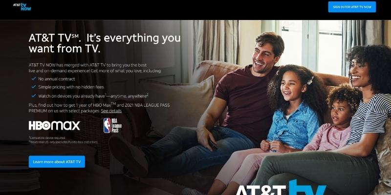 AT&T TV Now website