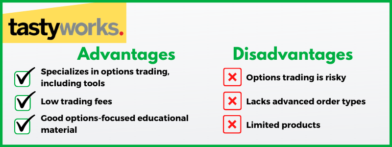 tastyworks is an investment company that caters to options traders.