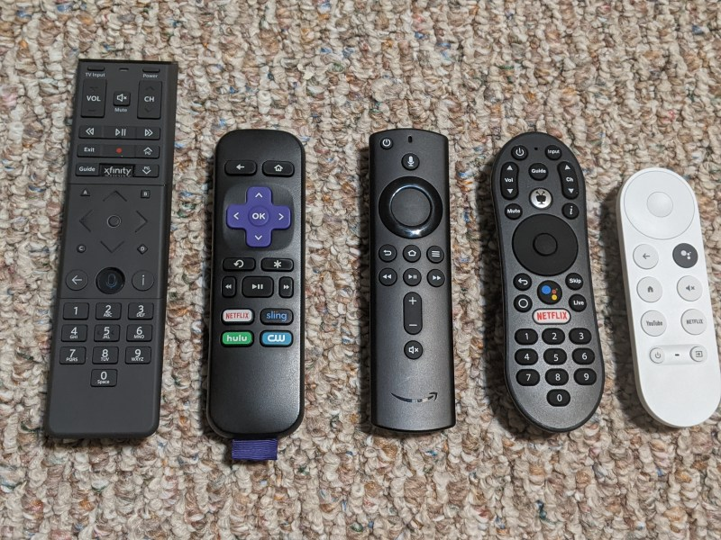 The Chromecast with Google TV remote is one of the smallest available.