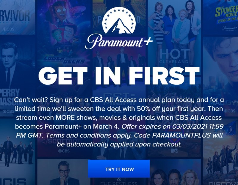 Paramount+ is offering a subscription discount.
