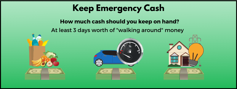 Money expert Clark Howard thinks it's a good idea to keep some emergency cash at home.