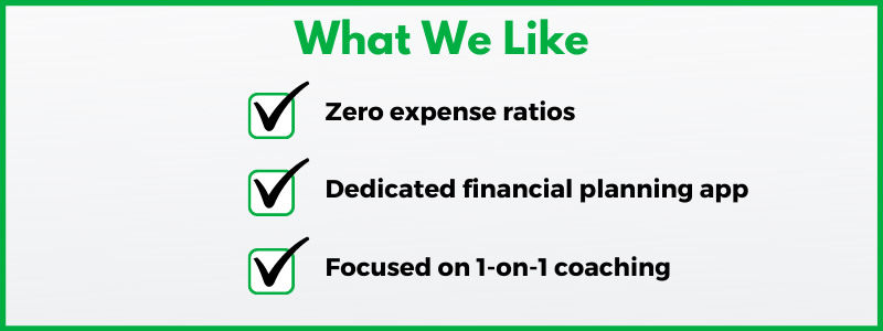 Fidelity Personalized Planning and Advice offers Fidelity Spire, a great financial planning app, and 1-on-1 coaching.