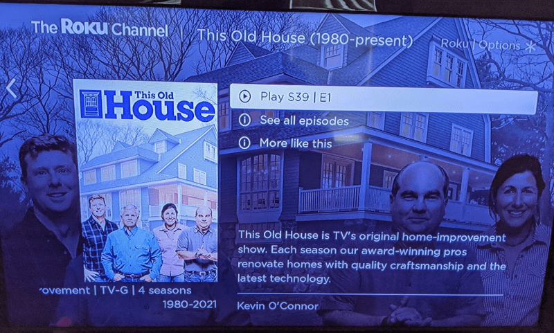 This Old House on The Roku Channel