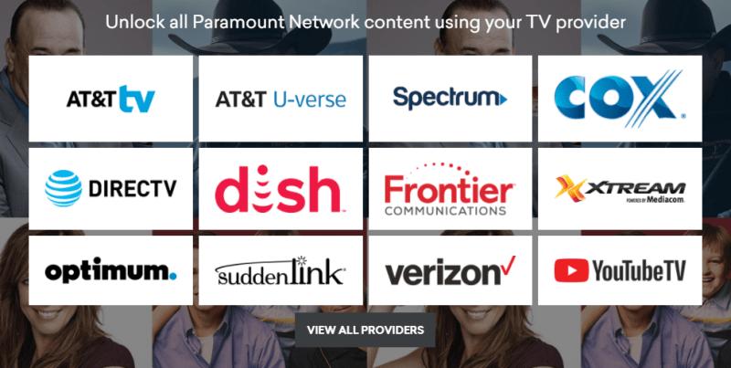 Paramount Network airs Yellowstone.