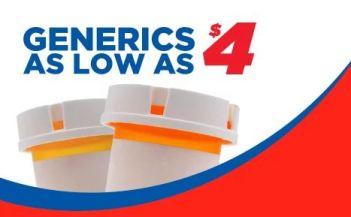 H-E-B $4 generics