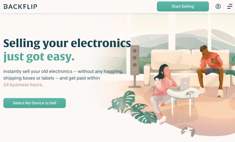 Backflip - the website's homepage