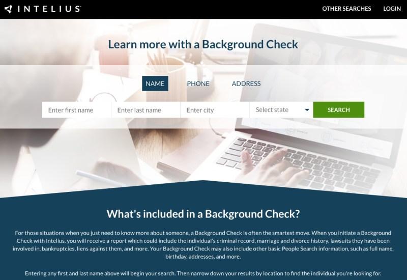 Intelius background check services