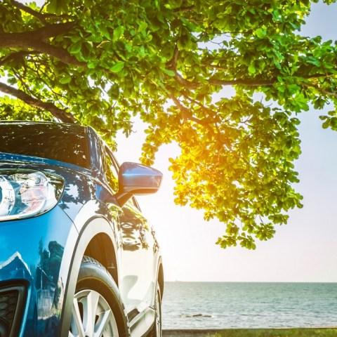 Rental car on holiday travel trip