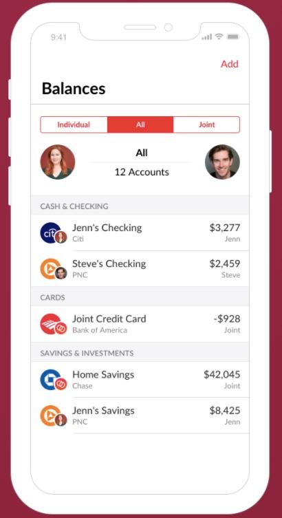 Honeydue - account balances