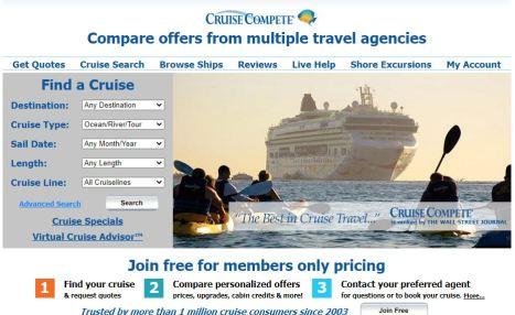 Cruise Compete website deals