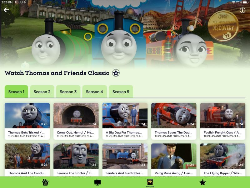 Thomas and Friends on Sensical