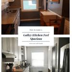 Diy Galley Kitchen Transformation Clark Aldine