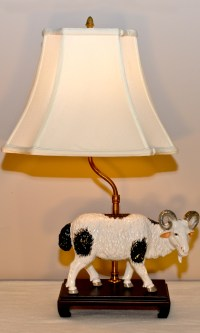 Goat Table Lamp - Clark Antiques Gallery  Clark Antiques ...