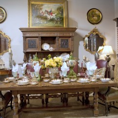 Country French Chairs Upholstered Metal And Table Classic Dining Room Clark Antiques Gallery With