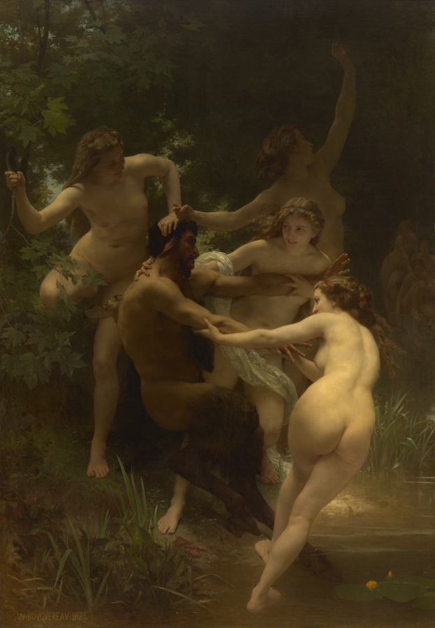 Bouguereaus Nymphs and Satyr  The Clark