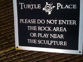 Turtle Place sculpture, downtown Vancouver, Wash.