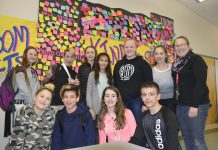 CCMS Random Acts - group of students involved with Wendy Butler