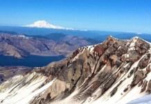 Climbing Mount St Helens Summit View