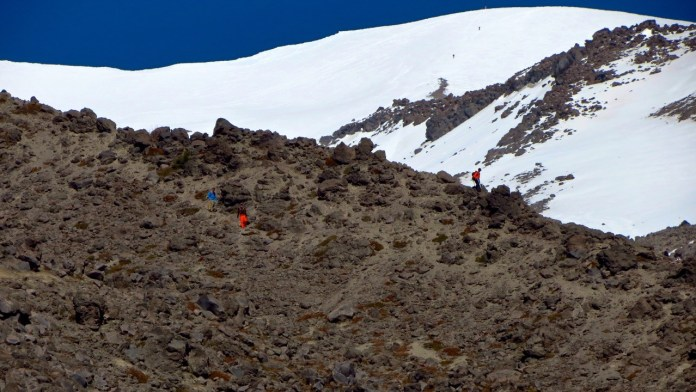 Climbing Mount St Helens Worm Flow Route