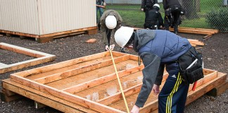 Evergreen Public School Students Habitat for Humanity students math
