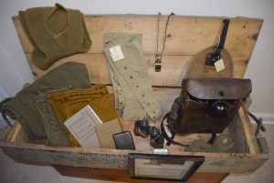 Two Rivers Heritage Musuem new display featuring military artifacts