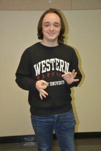 WHS senior, Dylan VanHorne, CTE Month