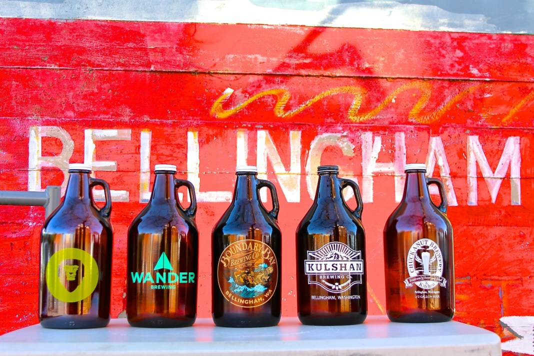 Bellingham Brewery All 5 Growlers