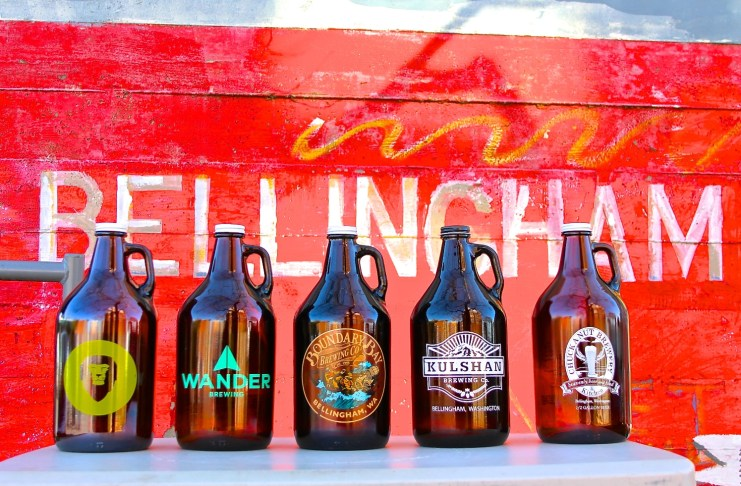 Bellingham Brewery All 5 Growlers