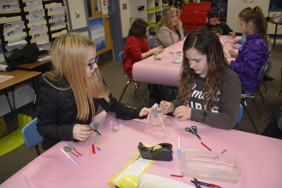 Gause Elementary OMSI scribble bots Vanessa Barela and Keilene Brown
