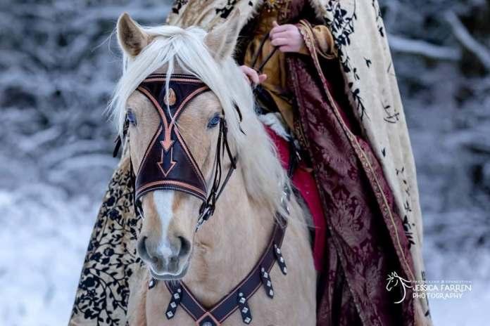 Lisa Badger medieval bridle leather work washington