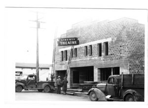 Old Liberty Theater under constsruction in 1940s