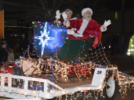 Donated sleigh in use at 2019 Washougal Lighted Christmas parade