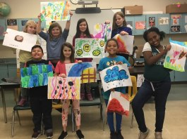 Enspire Arts Clark County Hough Elementary Painting Group