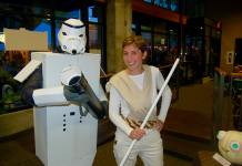 Downtown Camas Nick and Tami Calais at the last October First Friday Pumpkin Pageant and Star Wars Costume Contest