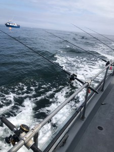 Grays Harbor fishing trip fishing-poles-on-charter-boat-Westport