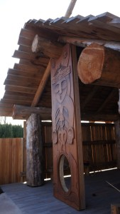 Washougal Museum Gathering Place carving