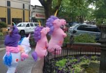 Unicorns at June camas First Friday 2019