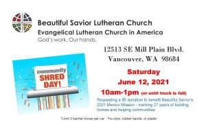 Shred Day @ Beautiful Savior Lutheran Church