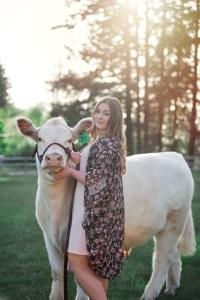 Clark county 4-h Kylie ballard cow