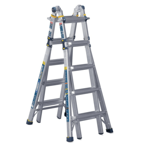 Werner 22′ aluminum 5-in-1 multi-position ladder for $149