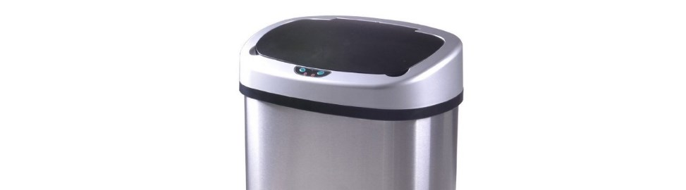 13-gallon touch-free stainless-steel trash can for $34, free shipping